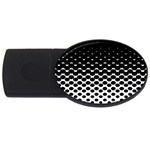Halftone Gradient Pattern USB Flash Drive Oval (4 GB) Front