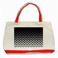 Halftone Gradient Pattern Classic Tote Bag (red) by Simbadda