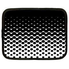 Halftone Gradient Pattern Netbook Case (large) by Simbadda
