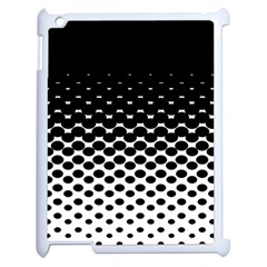 Halftone Gradient Pattern Apple Ipad 2 Case (white) by Simbadda
