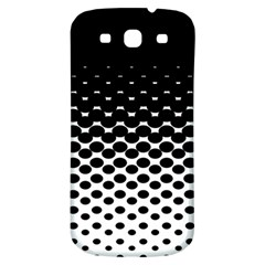 Halftone Gradient Pattern Samsung Galaxy S3 S Iii Classic Hardshell Back Case by Simbadda
