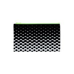 Halftone Gradient Pattern Cosmetic Bag (xs) by Simbadda