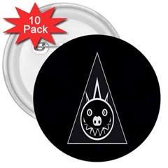 Abstract Pigs Triangle 3  Buttons (10 Pack)