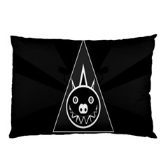 Abstract Pigs Triangle Pillow Case by Simbadda
