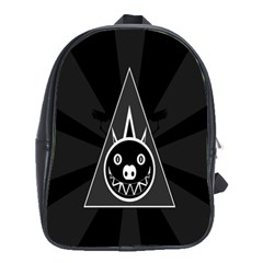 Abstract Pigs Triangle School Bags(large)  by Simbadda