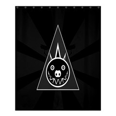 Abstract Pigs Triangle Shower Curtain 60  X 72  (medium)  by Simbadda