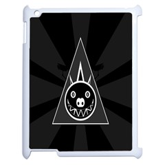 Abstract Pigs Triangle Apple Ipad 2 Case (white)