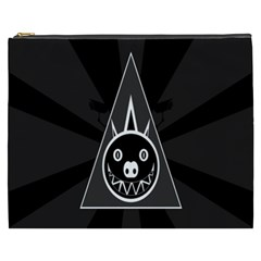 Abstract Pigs Triangle Cosmetic Bag (xxxl)  by Simbadda