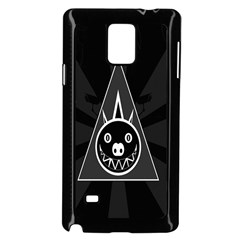 Abstract Pigs Triangle Samsung Galaxy Note 4 Case (black)