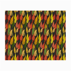 Colorful Leaves Yellow Red Green Grey Rainbow Leaf Small Glasses Cloth by Alisyart