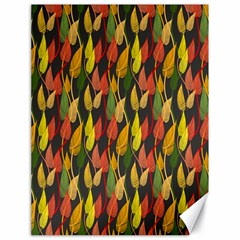 Colorful Leaves Yellow Red Green Grey Rainbow Leaf Canvas 18  X 24