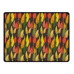 Colorful Leaves Yellow Red Green Grey Rainbow Leaf Fleece Blanket (small) by Alisyart