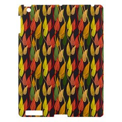 Colorful Leaves Yellow Red Green Grey Rainbow Leaf Apple Ipad 3/4 Hardshell Case by Alisyart