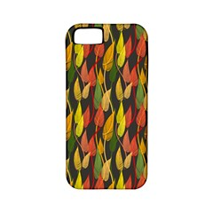 Colorful Leaves Yellow Red Green Grey Rainbow Leaf Apple Iphone 5 Classic Hardshell Case (pc+silicone) by Alisyart