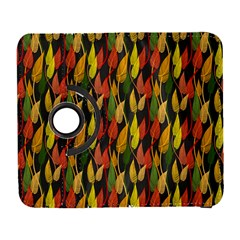 Colorful Leaves Yellow Red Green Grey Rainbow Leaf Galaxy S3 (flip/folio) by Alisyart
