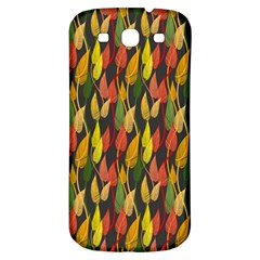 Colorful Leaves Yellow Red Green Grey Rainbow Leaf Samsung Galaxy S3 S Iii Classic Hardshell Back Case by Alisyart