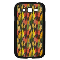 Colorful Leaves Yellow Red Green Grey Rainbow Leaf Samsung Galaxy Grand Duos I9082 Case (black) by Alisyart
