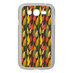 Colorful Leaves Yellow Red Green Grey Rainbow Leaf Samsung Galaxy Grand Duos I9082 Case (white) by Alisyart