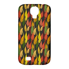 Colorful Leaves Yellow Red Green Grey Rainbow Leaf Samsung Galaxy S4 Classic Hardshell Case (pc+silicone) by Alisyart