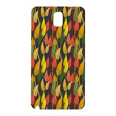 Colorful Leaves Yellow Red Green Grey Rainbow Leaf Samsung Galaxy Note 3 N9005 Hardshell Back Case by Alisyart
