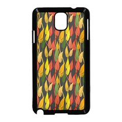 Colorful Leaves Yellow Red Green Grey Rainbow Leaf Samsung Galaxy Note 3 Neo Hardshell Case (black)