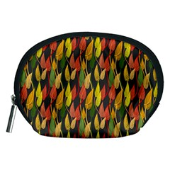 Colorful Leaves Yellow Red Green Grey Rainbow Leaf Accessory Pouches (medium)  by Alisyart