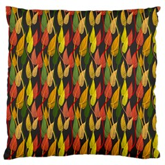 Colorful Leaves Yellow Red Green Grey Rainbow Leaf Standard Flano Cushion Case (one Side) by Alisyart