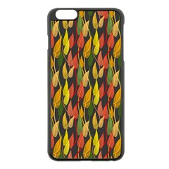 Colorful Leaves Yellow Red Green Grey Rainbow Leaf Apple Iphone 6 Plus/6s Plus Black Enamel Case by Alisyart