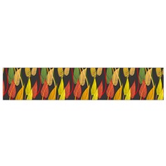 Colorful Leaves Yellow Red Green Grey Rainbow Leaf Flano Scarf (small)