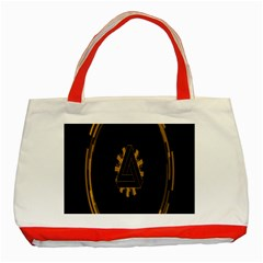 Geometry Interfaces Deus Ex Human Revolution Deus Ex Penrose Triangle Classic Tote Bag (red) by Simbadda