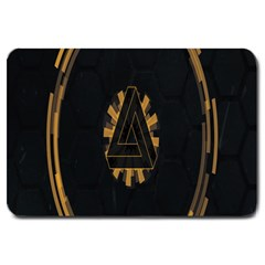Geometry Interfaces Deus Ex Human Revolution Deus Ex Penrose Triangle Large Doormat  by Simbadda