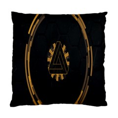 Geometry Interfaces Deus Ex Human Revolution Deus Ex Penrose Triangle Standard Cushion Case (two Sides)