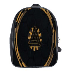 Geometry Interfaces Deus Ex Human Revolution Deus Ex Penrose Triangle School Bags(large)  by Simbadda