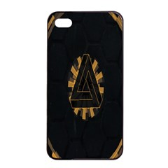 Geometry Interfaces Deus Ex Human Revolution Deus Ex Penrose Triangle Apple Iphone 4/4s Seamless Case (black) by Simbadda