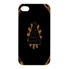 Geometry Interfaces Deus Ex Human Revolution Deus Ex Penrose Triangle Apple Iphone 4/4s Premium Hardshell Case