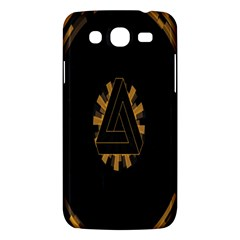Geometry Interfaces Deus Ex Human Revolution Deus Ex Penrose Triangle Samsung Galaxy Mega 5 8 I9152 Hardshell Case  by Simbadda