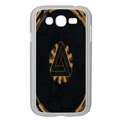 Geometry Interfaces Deus Ex Human Revolution Deus Ex Penrose Triangle Samsung Galaxy Grand Duos I9082 Case (white) by Simbadda