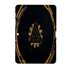 Geometry Interfaces Deus Ex Human Revolution Deus Ex Penrose Triangle Samsung Galaxy Tab 2 (10 1 ) P5100 Hardshell Case