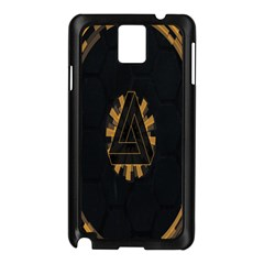 Geometry Interfaces Deus Ex Human Revolution Deus Ex Penrose Triangle Samsung Galaxy Note 3 N9005 Case (black) by Simbadda