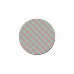 Cross Pink Green Gingham Digital Paper Golf Ball Marker (10 Pack) by Alisyart