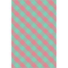 Cross Pink Green Gingham Digital Paper 5 5  X 8 5  Notebooks
