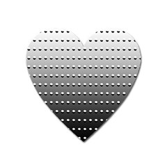 Gradient Oval Pattern Heart Magnet by Simbadda
