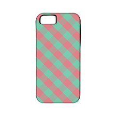 Cross Pink Green Gingham Digital Paper Apple Iphone 5 Classic Hardshell Case (pc+silicone)