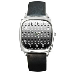 Gradient Oval Pattern Square Metal Watch