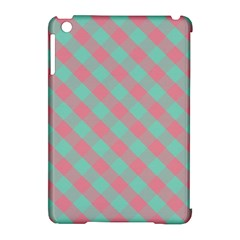 Cross Pink Green Gingham Digital Paper Apple Ipad Mini Hardshell Case (compatible With Smart Cover)