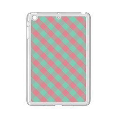 Cross Pink Green Gingham Digital Paper Ipad Mini 2 Enamel Coated Cases