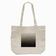 Gradient Oval Pattern Tote Bag (cream)