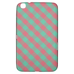 Cross Pink Green Gingham Digital Paper Samsung Galaxy Tab 3 (8 ) T3100 Hardshell Case  by Alisyart