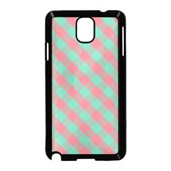 Cross Pink Green Gingham Digital Paper Samsung Galaxy Note 3 Neo Hardshell Case (black)