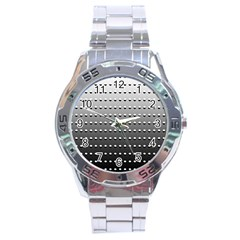 Gradient Oval Pattern Stainless Steel Analogue Watch by Simbadda